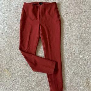 burnt rust skinny leg ankle trousers